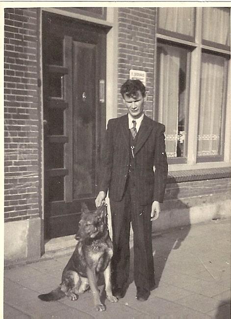 Ernest Gervais met zijn blindengeleidehond.